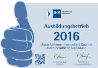 IHK Ausbildungsbetrieb 2016